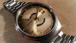 Vintage Orient College Multi - Year Calendar Automatic 21 J 46d40 Japan Bild
