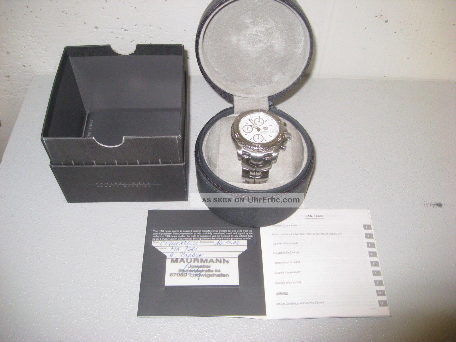 Tag Heuer Link Chronograph Automatic 42mm Armbanduhren Bild
