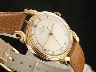 Luxus Herrenuhr Ulysse Nardin Chronometer Automatik 14 Karat Gelbgold Um 1950 Bild