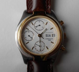 Certina Ds Chronograph Cal.  7750 - Weißes Ziffernblatt - Edelstahl - Wie Ovp Bild