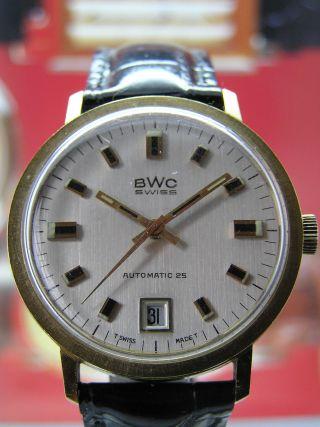 Klassische Bwc Swiss Automatic Herrenuhr Mit Eta 2452 - Sammlerstück Bild