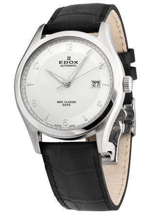 Edox Wrc Classic Date Automatik Herrenuhr Saphirglas 80086 3 Ain Bild