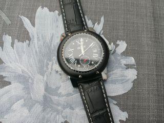 Automatic Armbanduhr Goer Mit Handaufzug Echt Lederarmband Glasboden Mit Datum Bild