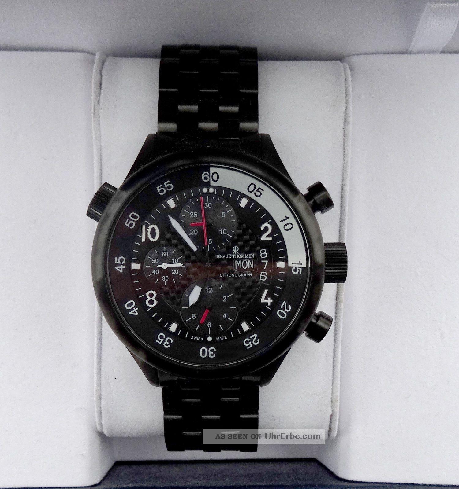 Revue Thommen Fliegeruhr Swiss Made /eta Valjoux 7750 T 2 J Foliert Armbanduhren Bild