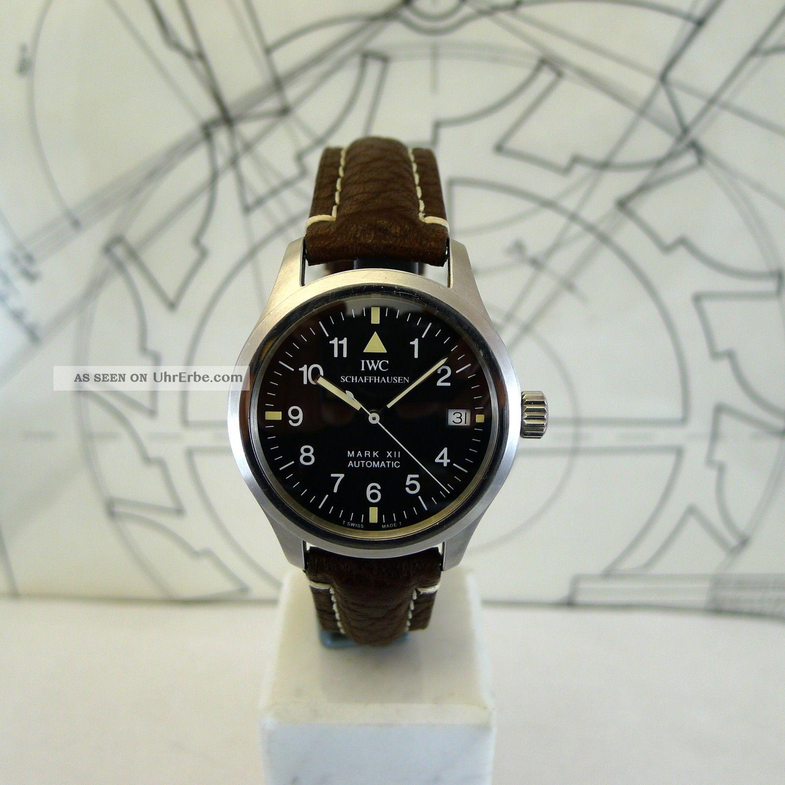 Die Fliegeruhr Iwc Mk Xii Ref.  3241 Stahl Leder Armbanduhren Bild