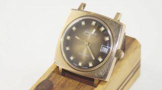 Armbanduhr Glashütte Spezimatic,  Gub,  26 Rubis,  Goldplaque Ohne Armband Bild
