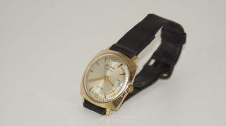 Armbanduhr Glashütte Spezimatic,  Gub,  Goldplaque Bild