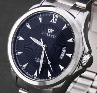 Luxus Automatik Herren Mechanisch Uhr Edelstahl Datum Herren Armbanduhr Bild