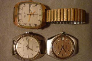 Konvolut Von Uhren 3 Stück Teildefekt Prätina,  Anker,  Poljot,  Automatic Armbanduhr Bild