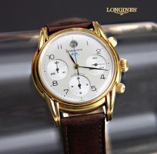Longines Special Serie Chronograph Automatik Herrenuhr Sammler Luxus Originalbox Bild