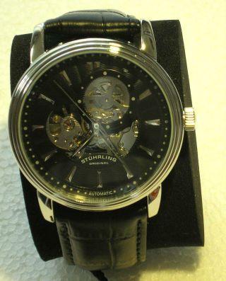 Stührling Delphi Acheron Herrenuhr Automatik - Uhr Edelstahl Watch & Ovp Bild