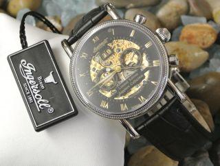 Weihnachtsangebot Ingersoll Alaska In7910 Bk Herren Armbanduhr - Leder - Schwarz Bild