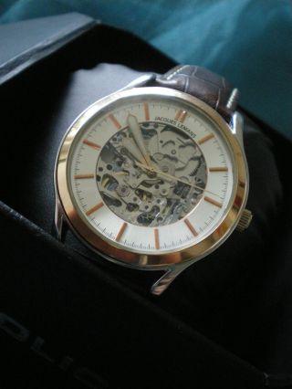 Jaques Lemans Herren Chronograph Jli 1206 Automatik Lederarmband Bild