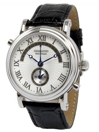 Calvaneo 1583 Silverstar Weissgold Herrenuhr Armbanduhr Bild