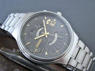 Orient Multi - Year Calendar Uhr Automatik Herrenuhr Japan Feu00002kw,  Feu00002cw Bild