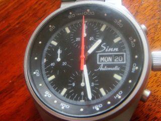 Sinn 144 Chronograph Automatic Valjoux Cal 7750 Day Date 41 Mm Bild