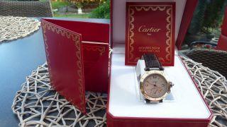 Cartier Pasha Automatik Gangreserve Stahl/gold Bild