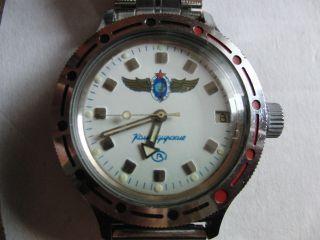 Vostok Russische Herren Armbanduhr Komandirskie Amfibia Automatik - Udssr Leder Bild