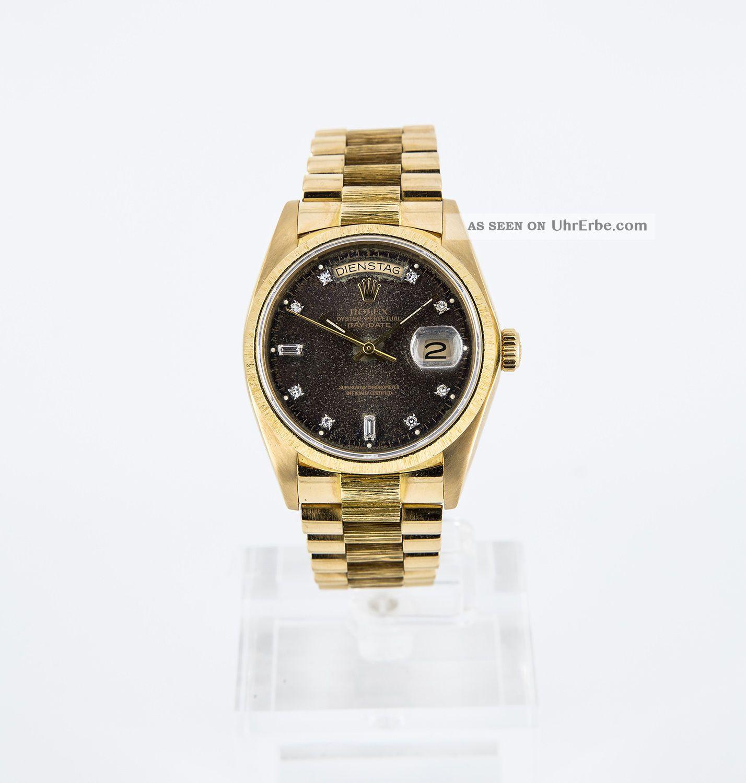 rolex daydate day date borke gold ref 18078 zifferblatt mit diamanten. Black Bedroom Furniture Sets. Home Design Ideas