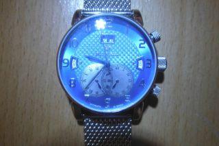 Sportliche Raoul U.  Braun Automatik - Uhr Herrenuhr Edelstahl Milanaise - Armband Bild