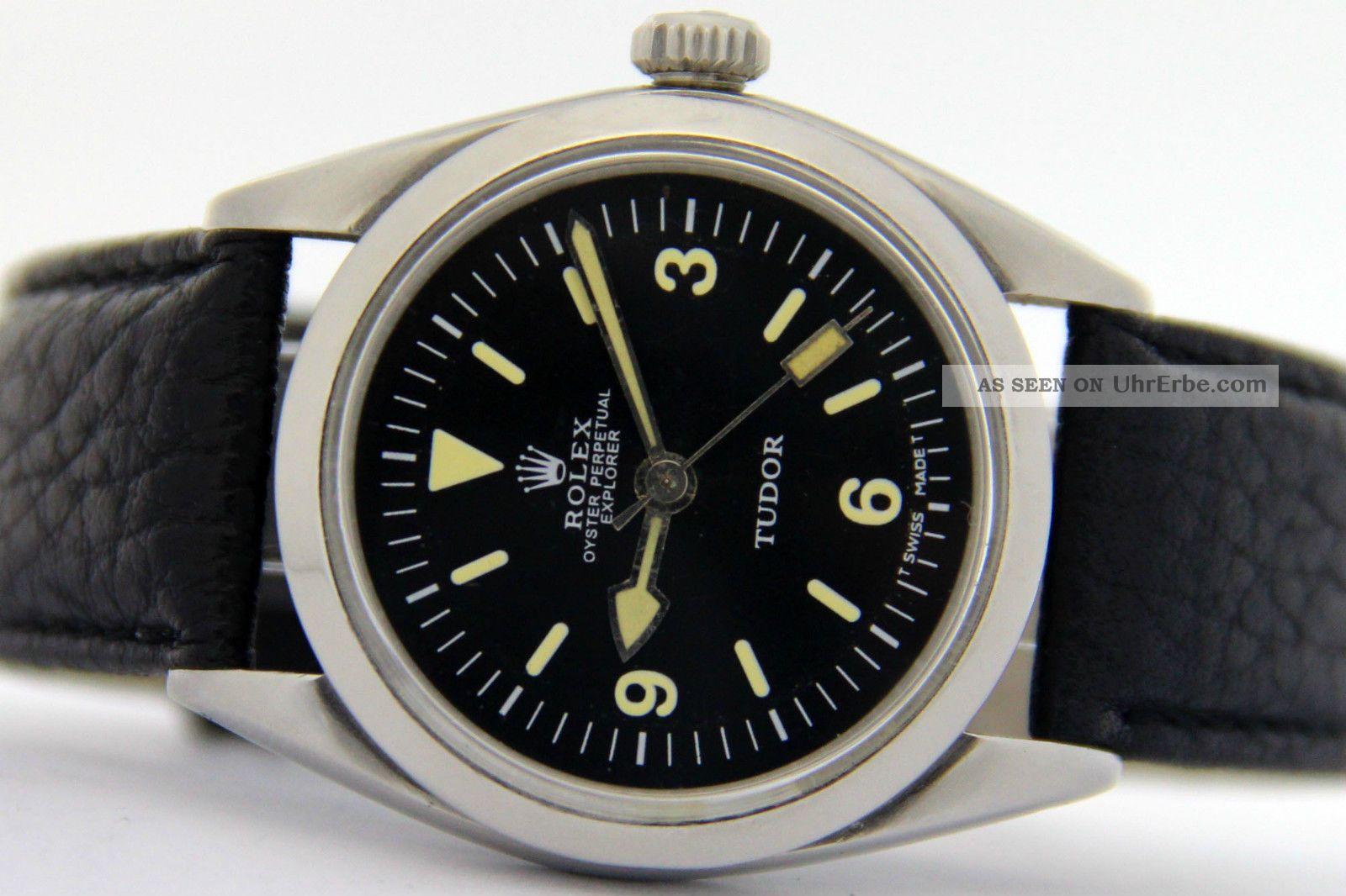Rare Rolex Explorer Tudor Aus Den 1970er Jahren - Automatik Kal.  Eta 2472 Armbanduhren Bild