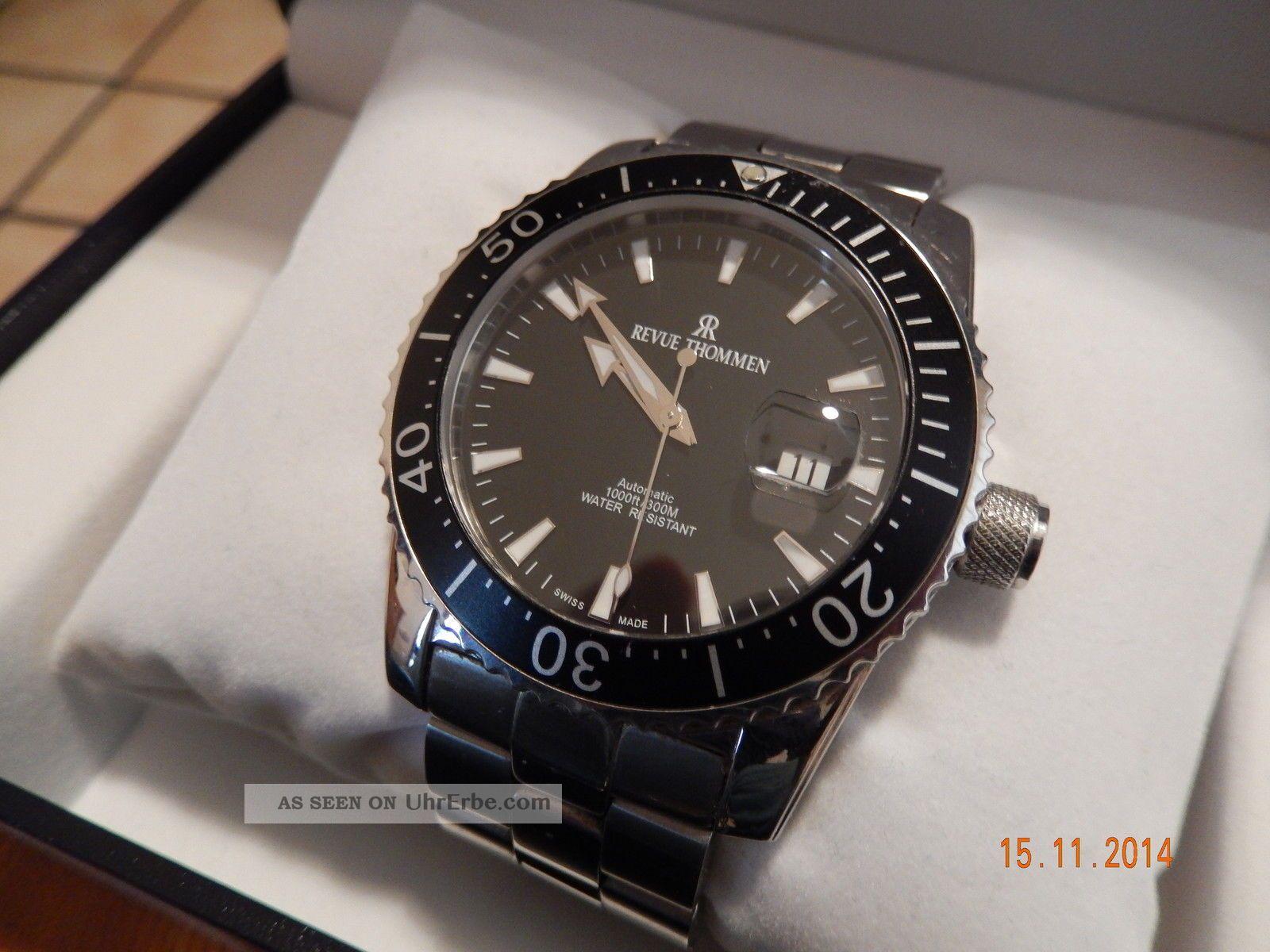 Revue Thommen Eta2824 - Professional - Diver Uhr 17030.  2137 Swiss Made Armbanduhren Bild