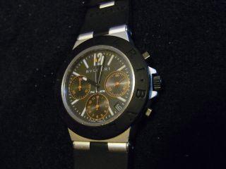 Originale Herren Luxusuhr Fa Bulgari Modell Diagono Chronograph Automatik Bild