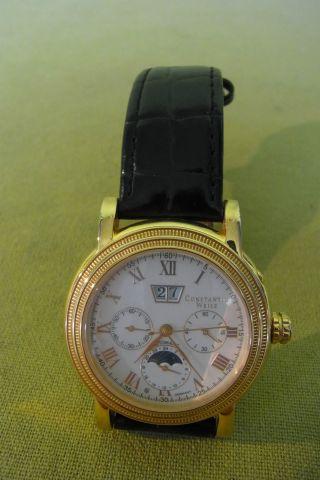 Armbanduhr - Constantin Weisz - Automatic - Cw12454g - Schwarzes Lederarmband Bild