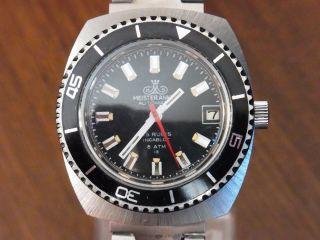 Meisteranker Armbanduhr Mit Uhrenbox Automatik Diver - Taucher Stil 6atm Vintage Bild