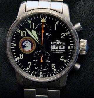 Fortis Cosmonauts 54 Von 100 - Automatik Chronograph Herrenuhr B - 42 Box Papiere Bild