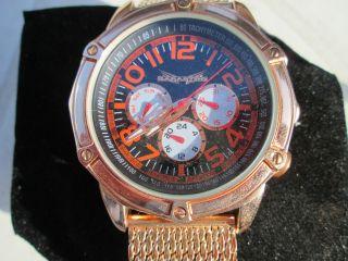 Edle Automatikuhr Armbanduhr Mit Milanaise - Uhrband Von Sarastro Bild