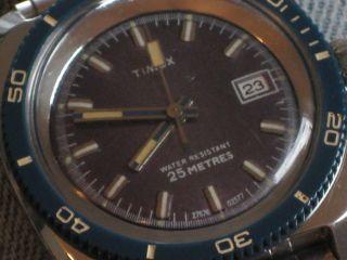 Timex Automatik,  Hau Taucheruhr,  70er Jahre Bild