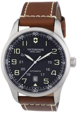 Armbanduhr Victorinox Swiss Army 241507 Airboss Mechanisch Braun Leder Bild
