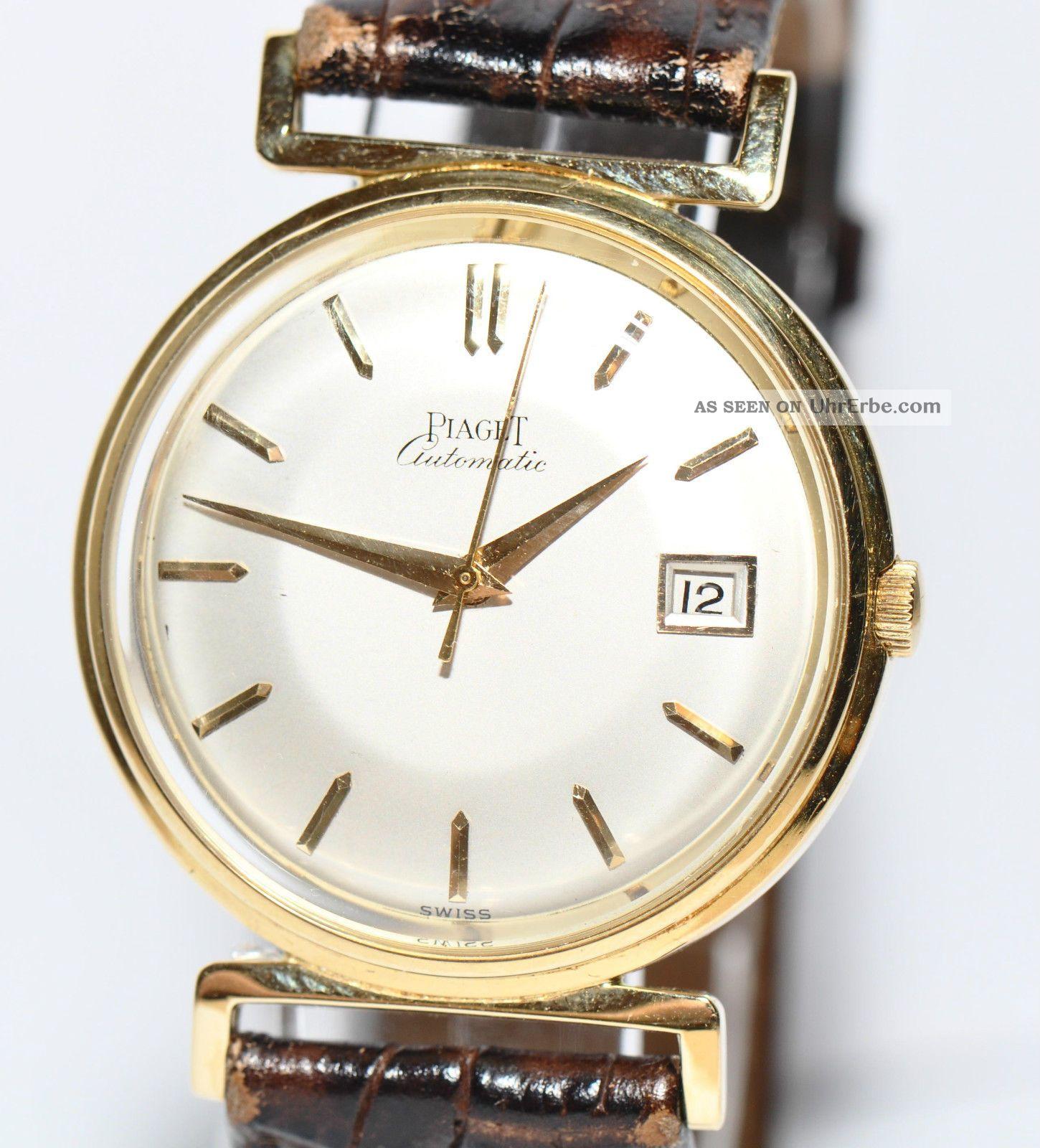 Gold 750er Piaget Ca60er Sammlerstück Gelbgold Jahre Uhr 8vOmn0wN