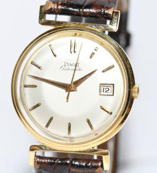 Piaget 750er Gelbgold Gold Uhr Ca.  60er Jahre Sammlerstück Bild