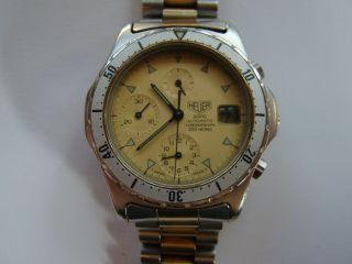 Heuer 2000 Automatik Chronograph Herren Armbanduhr 80er Jahre Ref 174.  006 Bild