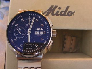 Mido All Dial Chronograph Edelstahl Automatik Chronometer Edelstahl Poliert D=43 Bild