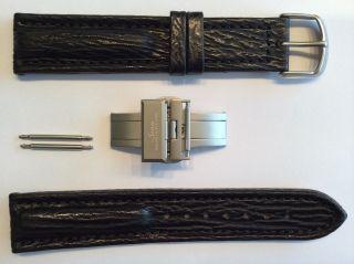 Sinn 20mm Armband/lederarmband Schwarz U.  Faltschliesse -,  Top Zust Bild