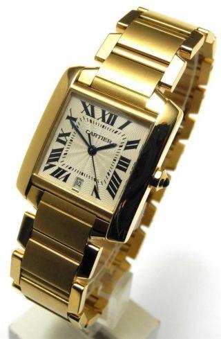 Cartier Tank Francaise 18 Kt Gold Ref.  1840 Automatic 28 X 32 Mm 2007 Bild