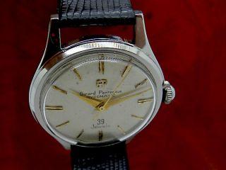 Vintage Girard Perregaux Automatic 39 Jewels Herren Armbanduhr In Stahl Bild