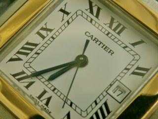 Cartier Santos,  Automatic Datum,  Grosses Modell,  Stahl/gold, Bild