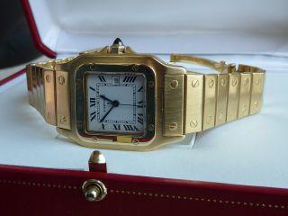 Cartier 140 Gr.  Gold Santos Automatik18k Herrenuhr Gents 2008 Revision Bei Wempe Bild