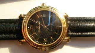 Jacques Cantani Luxus Automatik Uhr Gold Black Glasboden Edles Design Echse Bild