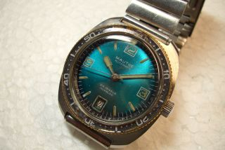 Mauthe Automatic Scuba Diver Alte Herren Armbanduhr 70 ' Er Jahre Gebr.  Zust. Bild