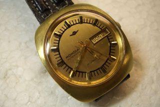 Mondia Moonlander Automatic Alte Herren Armbanduhr 70 ' Er J.  Kal.  As 1916 Selten Bild