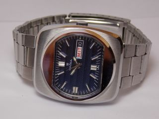 Vintage Herren Armband Uhr Onsa Automatic Sehr Selten Sammelwürdig Bild