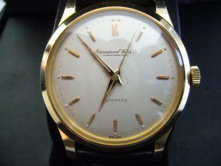 Iwc Vintage Uhr Classic 50er 60er Automatic Gelbgold Bild