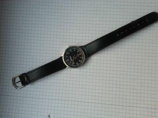 Armbanduhr Herren Uhr Chronograph Quarz Uhr Flieger Uhr Edelstahl Leder Armband Bild
