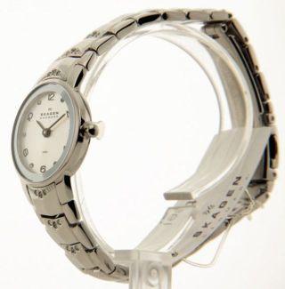 Skagen Damen Edelstahl Kristall Armbanduhr Schmal 812xssxw Bild