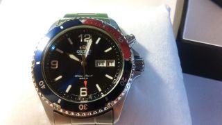Orient Automatik Uhr Pepsi,  Em65 - C5 - A Bild